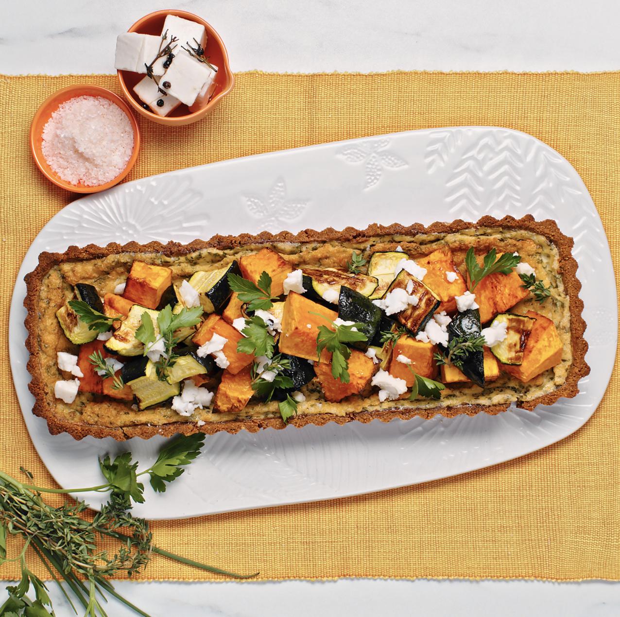 Roasted Pumpkin and Zucchini Tart